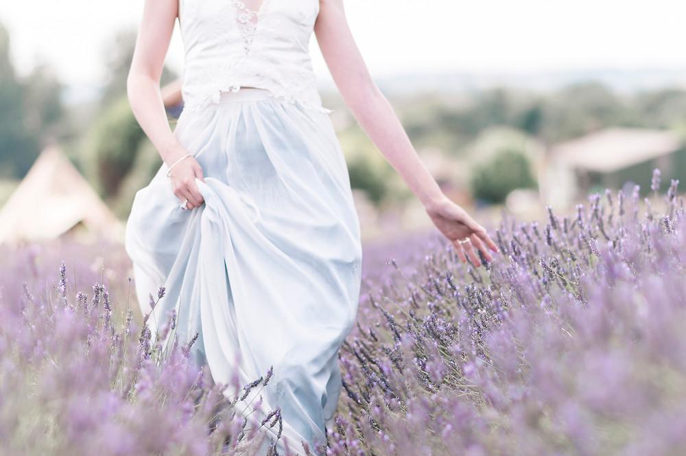 lavender styled shoot for a boho bride Jessica Turner Designs