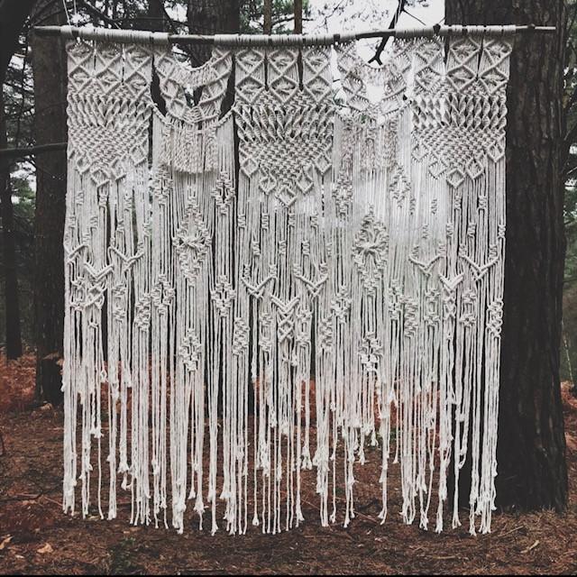 macrame for a wedding backdrop jessica turner designs