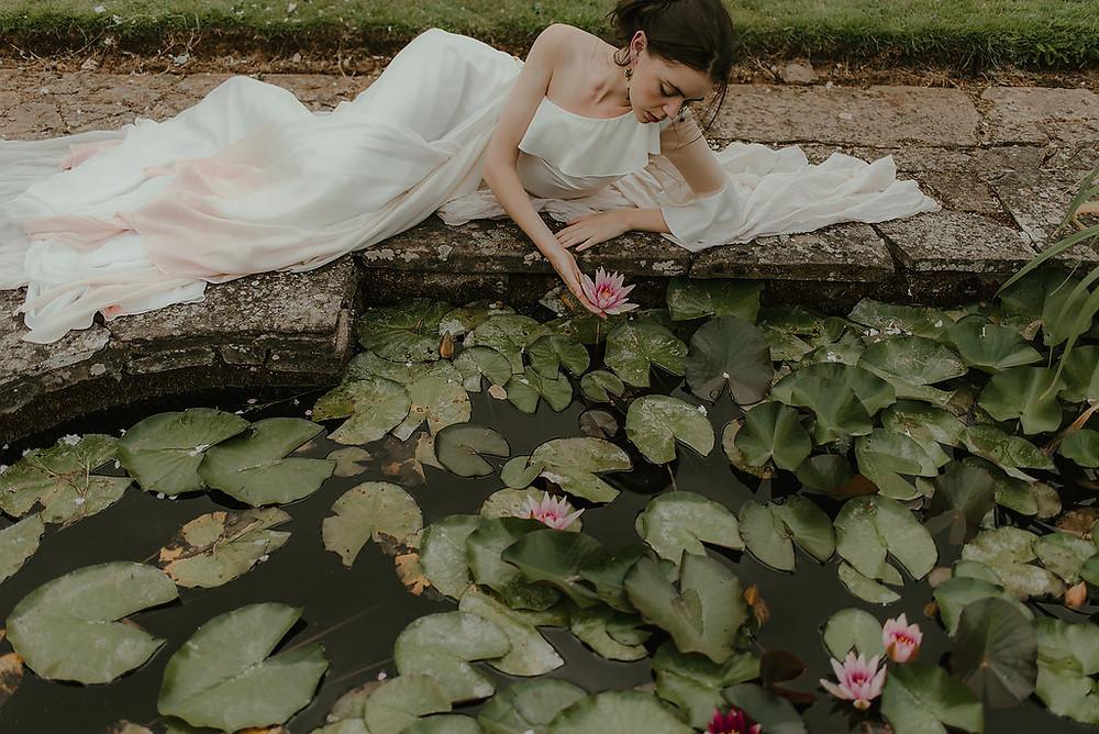 Lyra Dress dip dye wedding dress ethically made Jessica Turner Designs