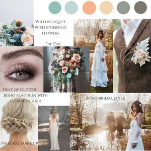 Boho bride wedding dress and inspiration Jessica Turner Pinterest