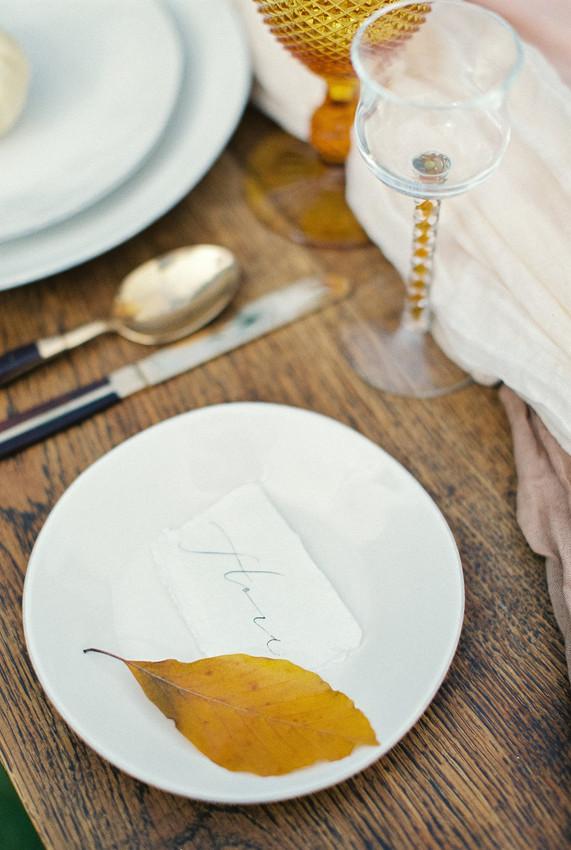 Autumn Wedding Table Setting