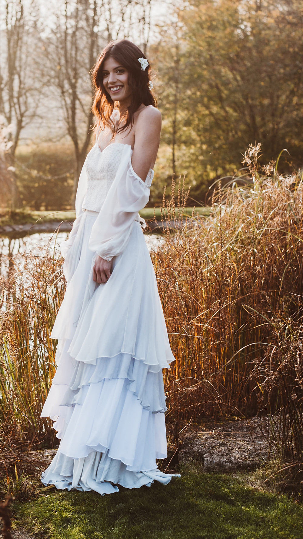 Organic Cotton ethical wedding dress Jessica Turner Designs