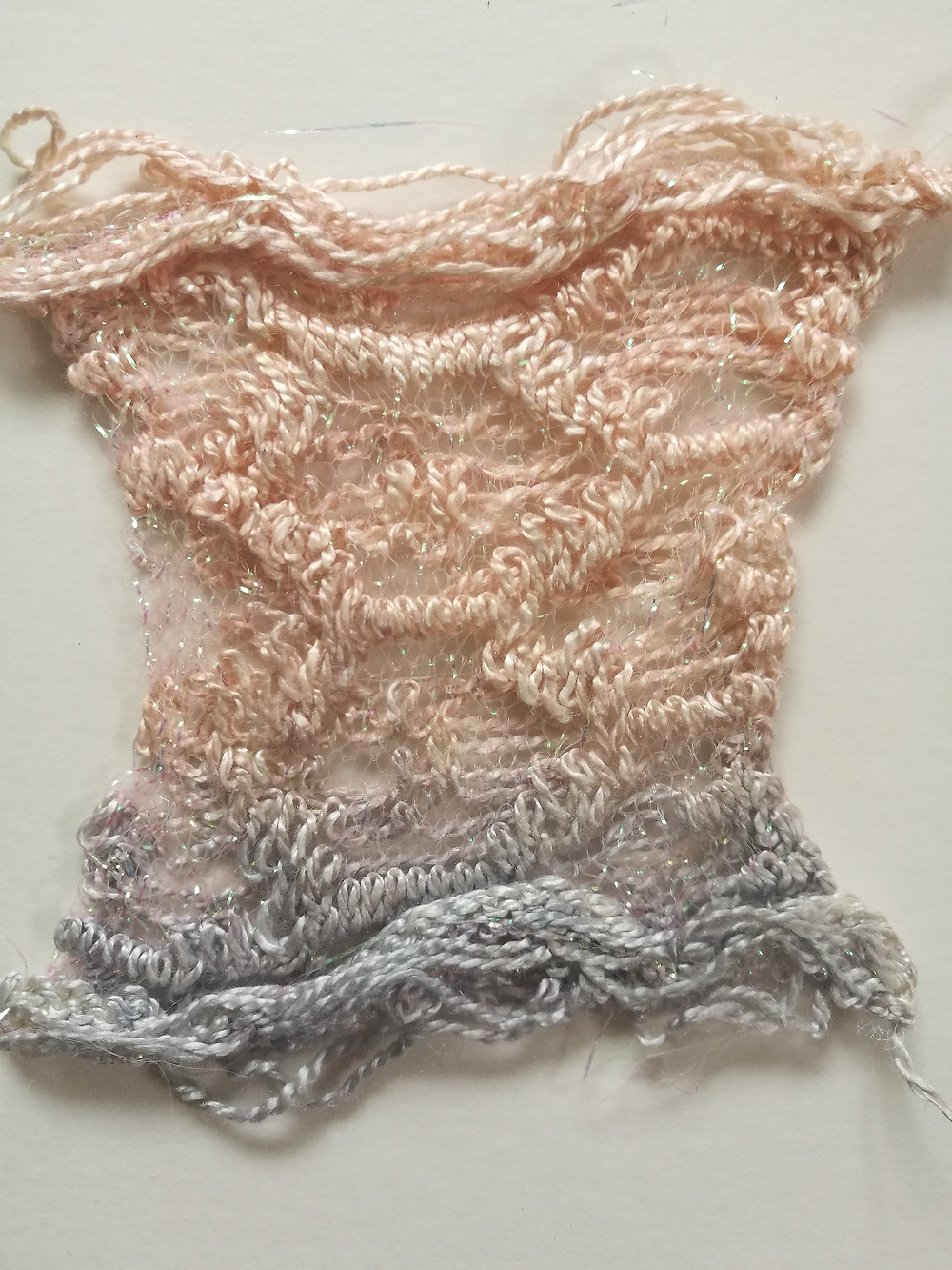 Peach and grey dip dye Jessica Turner Designs