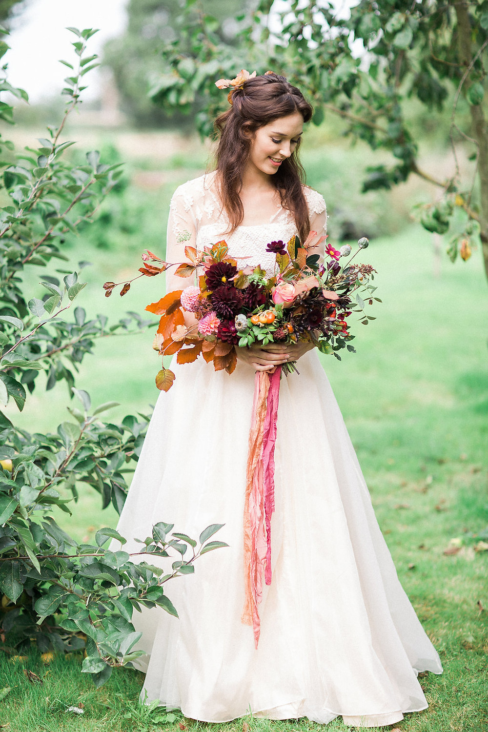 A Wedding Dress for an Autumnal Bride by Jessica Turner Designs
