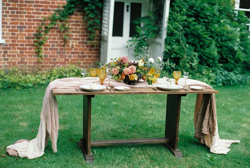 Autumn Wedding Table Decor