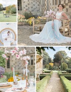 blue bridal skirt and bridal separates