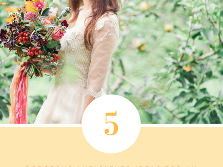 5 Gorgeous and Clever Ideas for an Autumn Wedding.