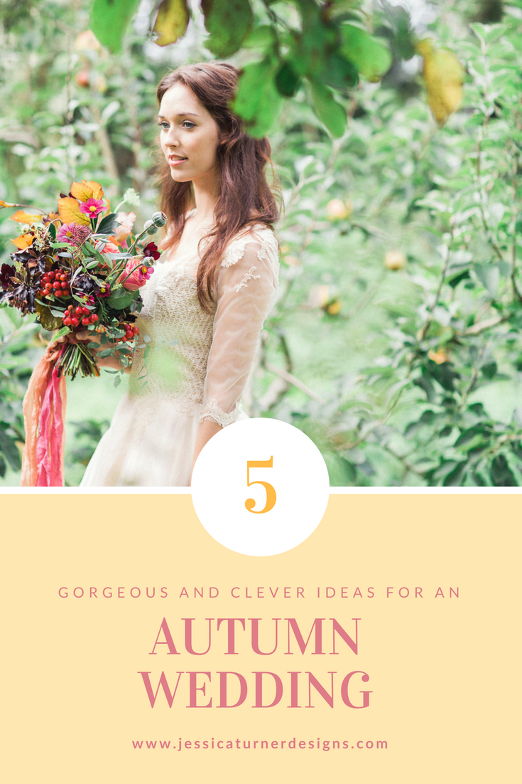 Autumn Wedding Inspiration Jessica Turner Designs.