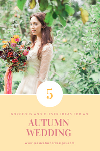 Autumn Wedding Inspiration Jessica Turner Designs.