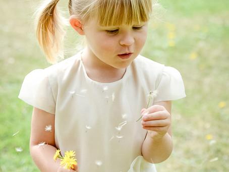 Gorgeous bespoke flower girl dress.