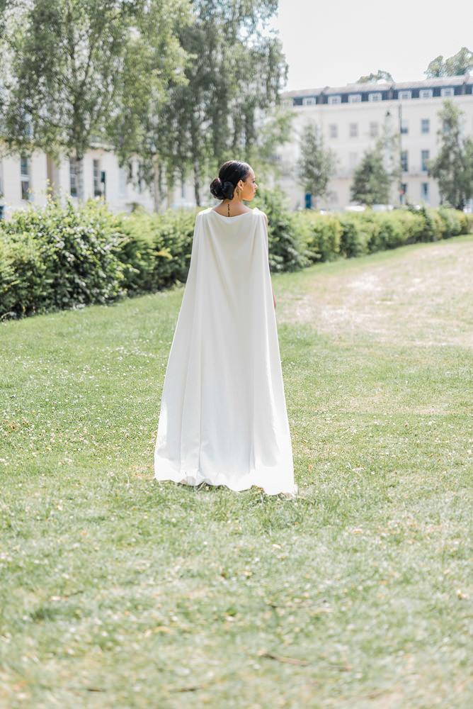 A Bridal Cape and Jumpsuit