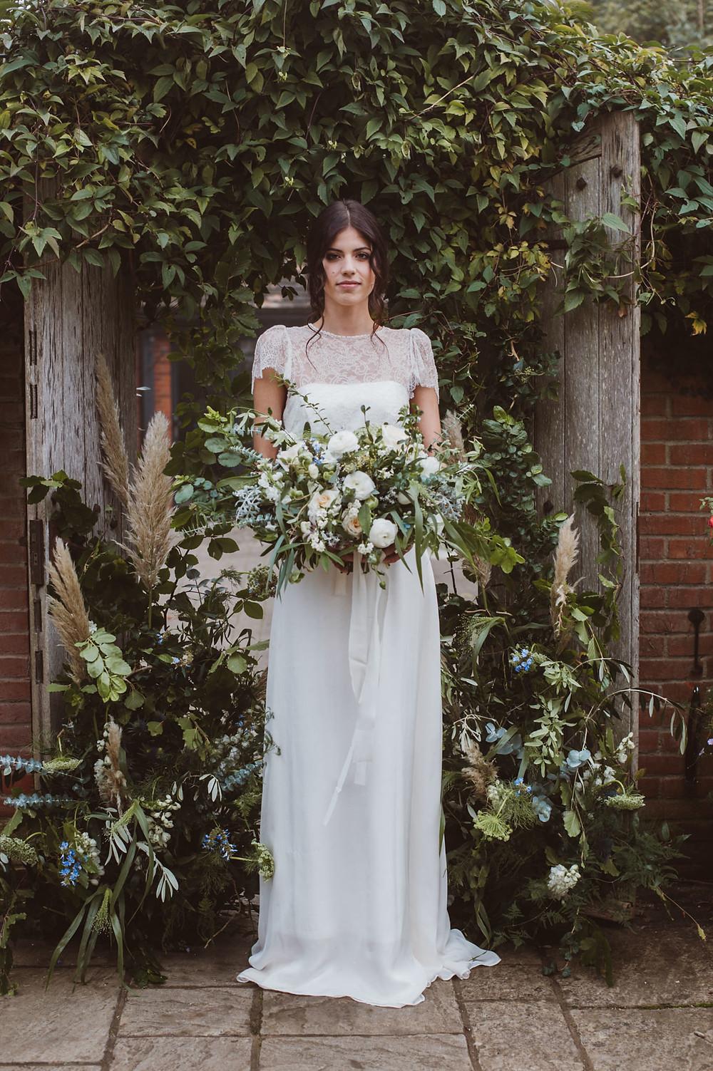Sarah Harper Flowers and Bridal Dress by Jessica Turner Designs