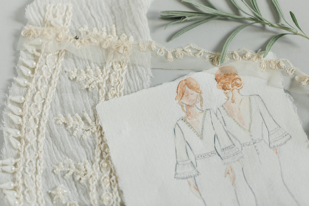 bridal collection on paper to reduce raw materials ethical bridal brand Jessica Turner Designs