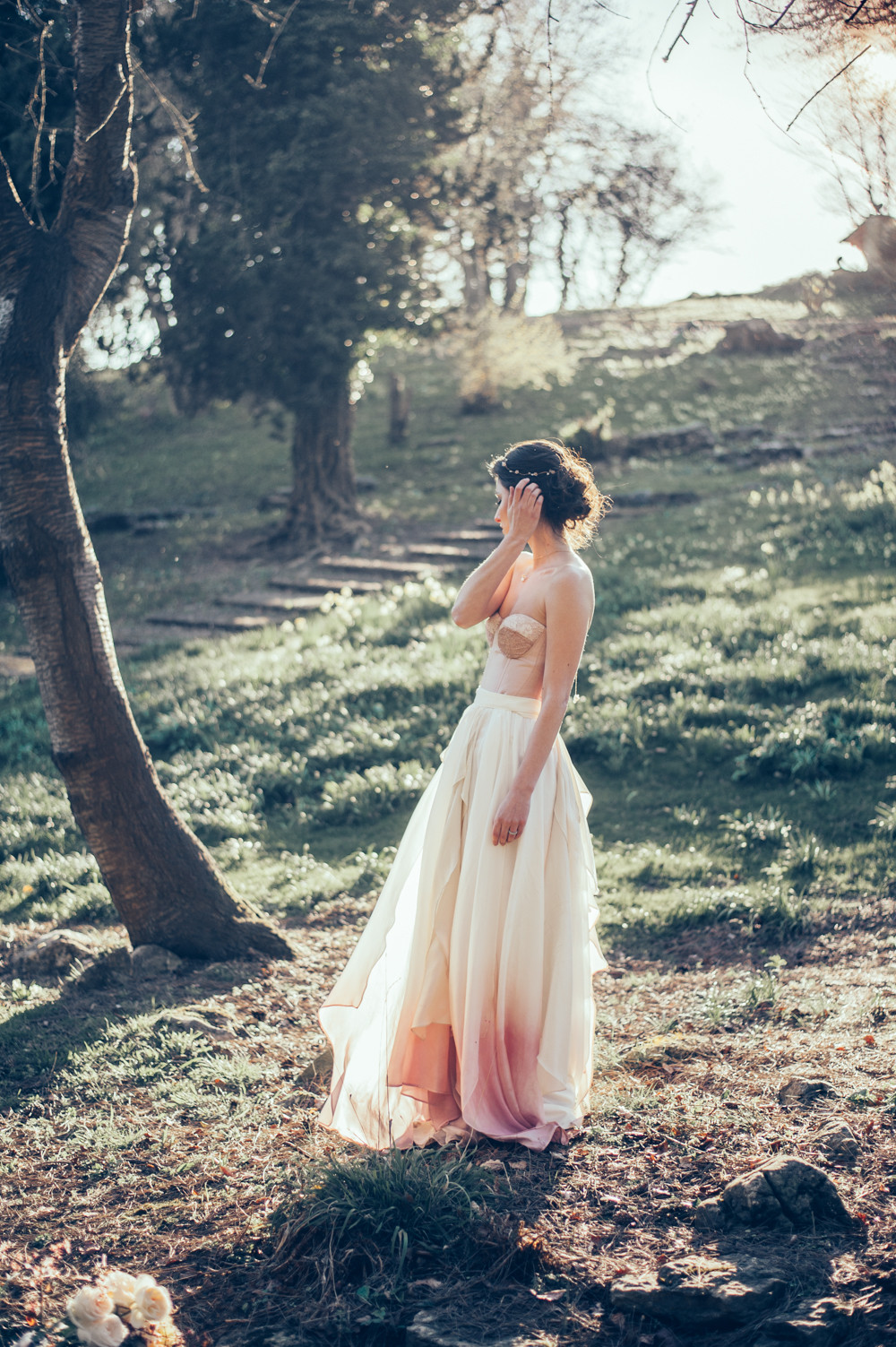 Dip dyed bridal separate by Jessica Turner Designs