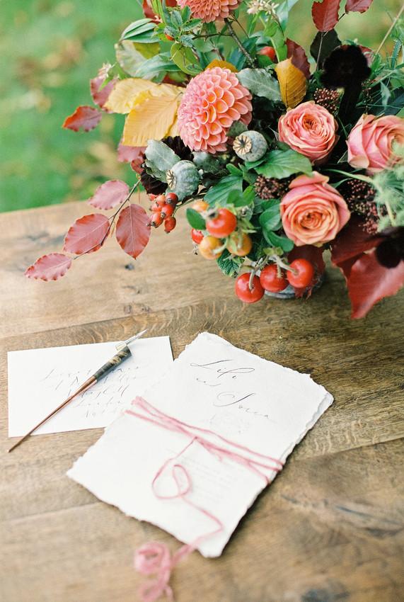 Autumn Wedding Stationary