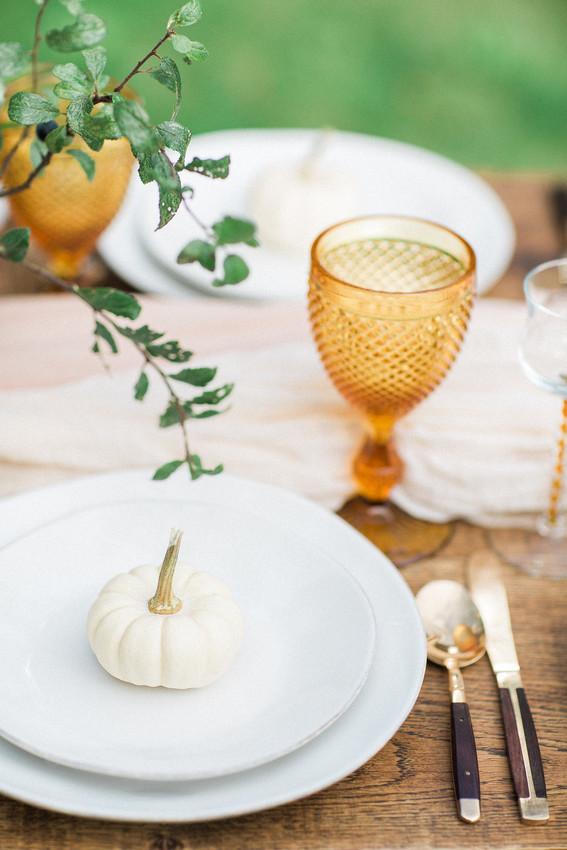 Autumn Tablescape with Pumpkins