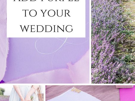 Ultra Violet Pantone Colour: Pretty Ways to Add this Colour to your Wedding.