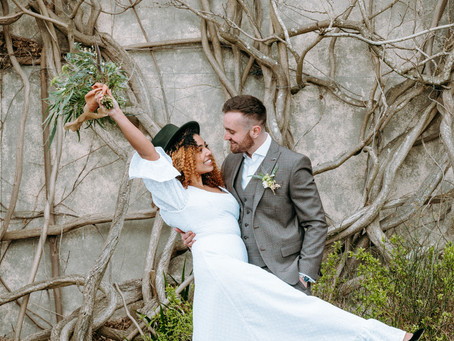 Featured on Whimsical Wonderland weddings: Countryside elopement.