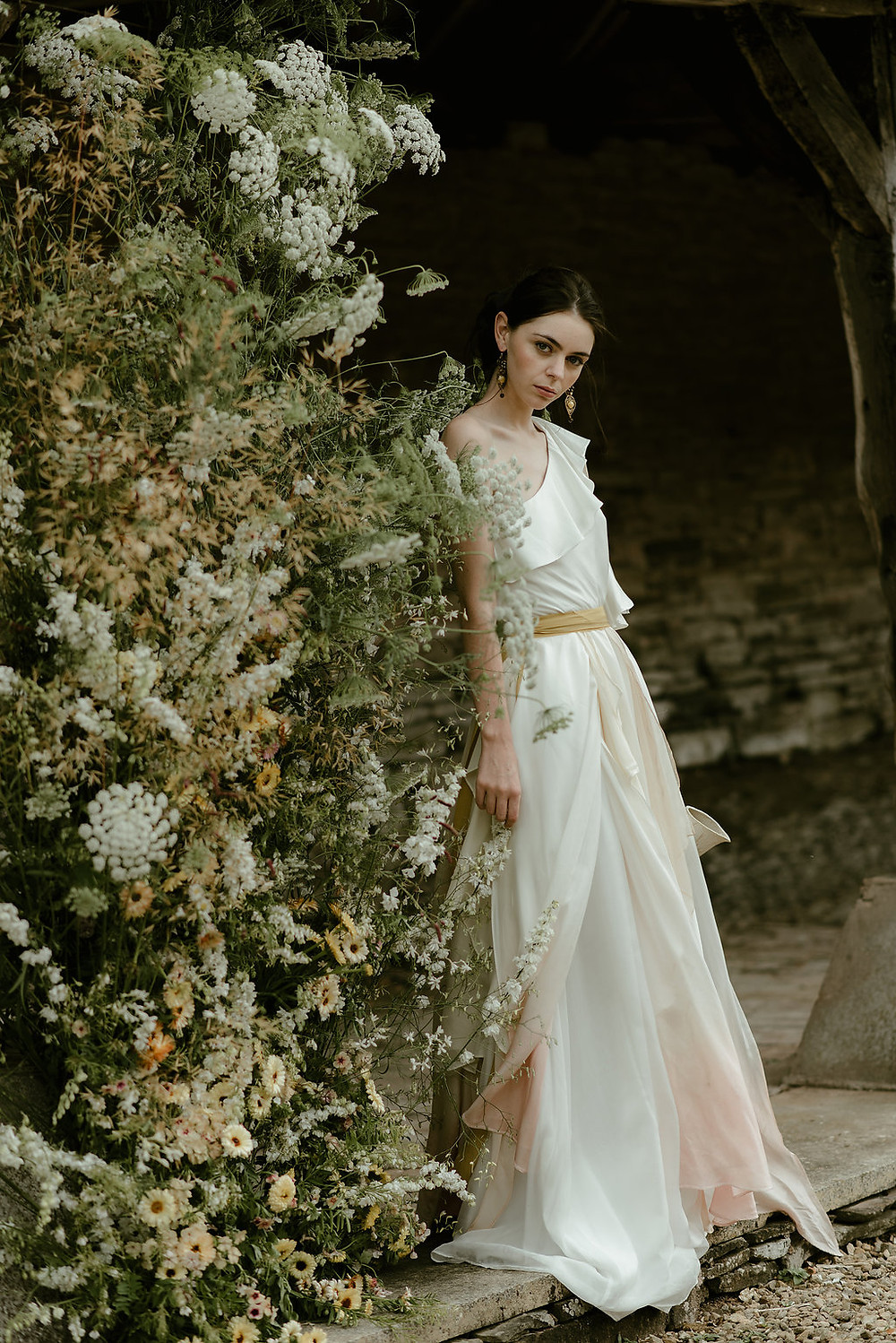 Jessica Turner Designs stocked in Willoughby and Wolf dip dye wedding dress for the boho bride