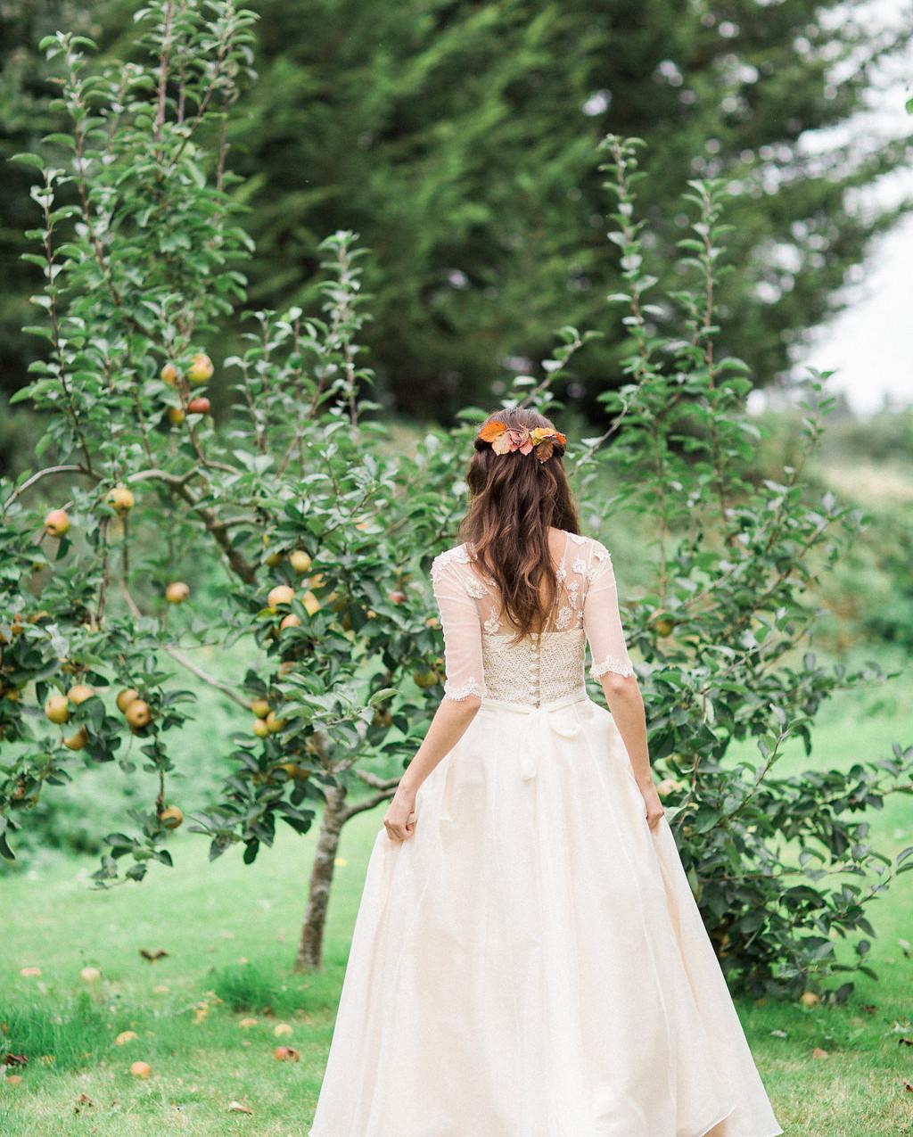 'Autumn Joy' wedding dress