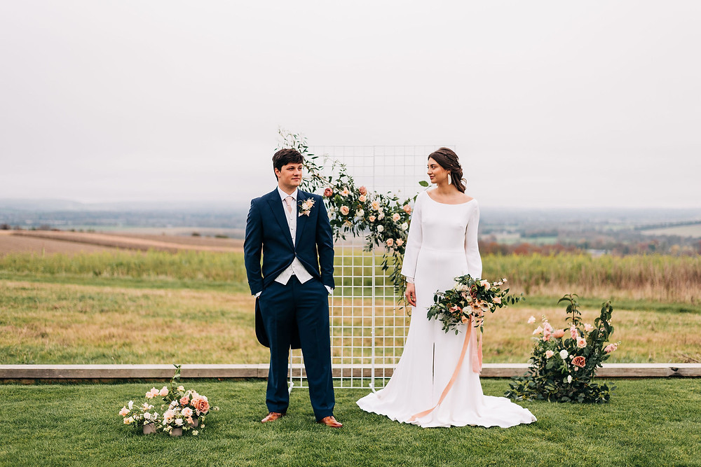 Romantic eco wedding inspiration for Valentine's Day on Green Union Wedding Blog today
