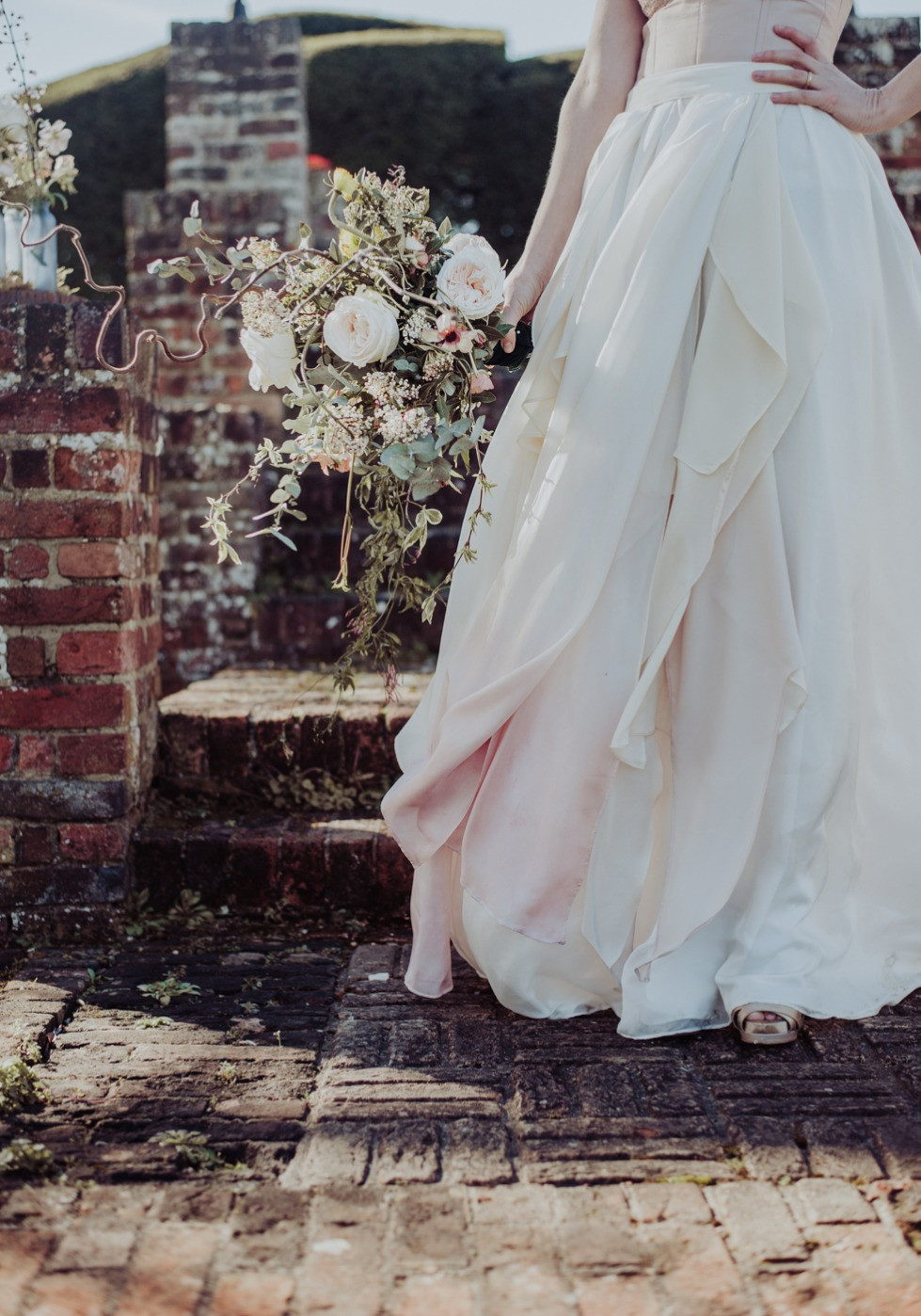 The Calla Lily by Jessica Turner Designs.  A layered dip dye bridal skirt for the unconventional bride