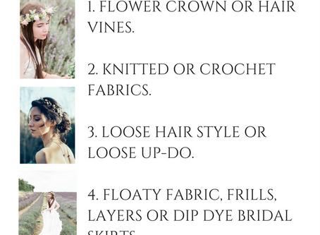 Subtle Boho Bridal Style.