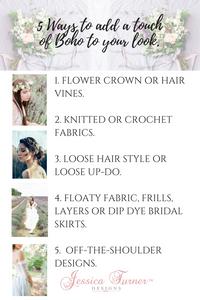 Boho bridal style
