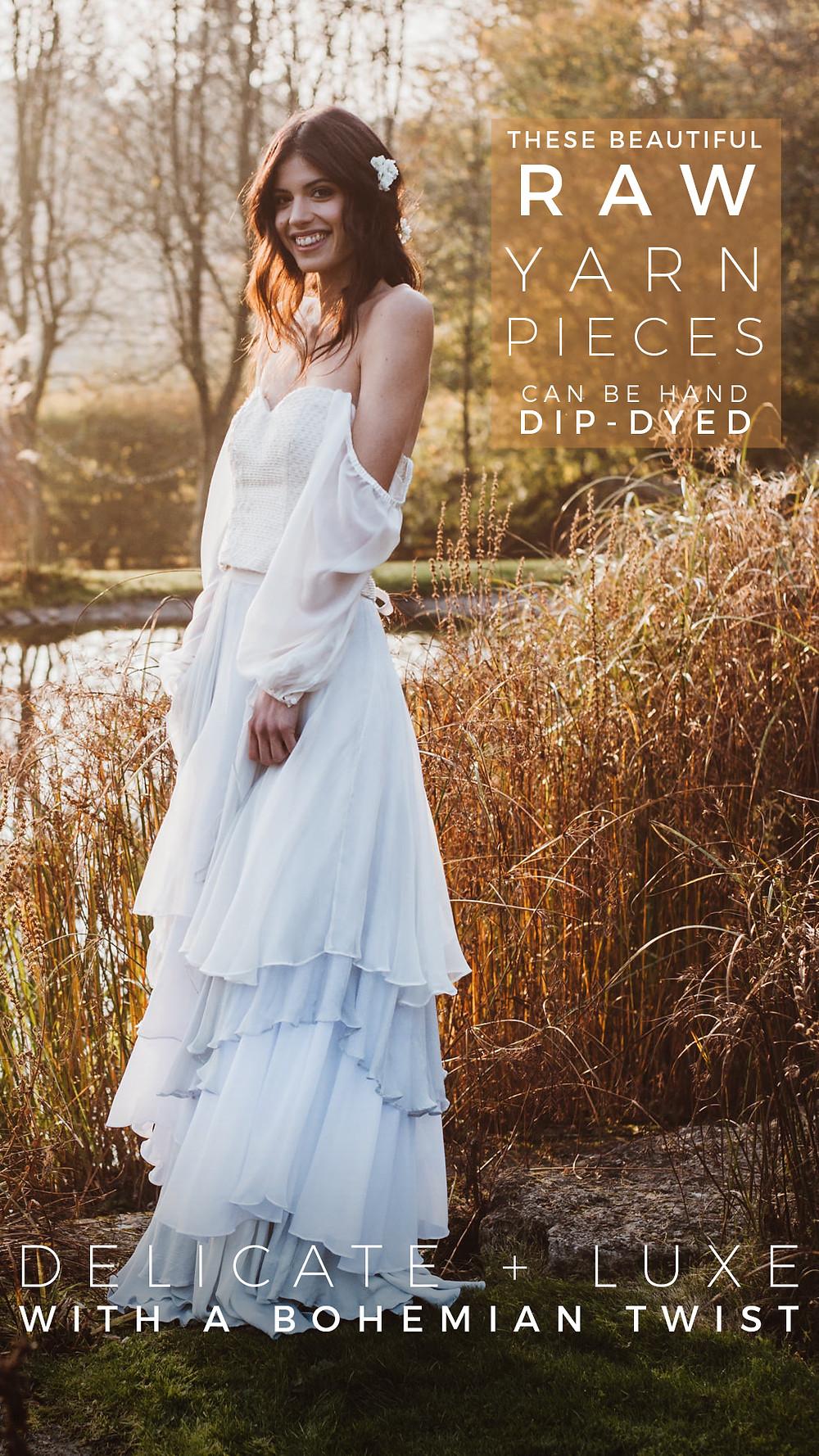 Dip dye wedding dress by Jessica Turner Designs