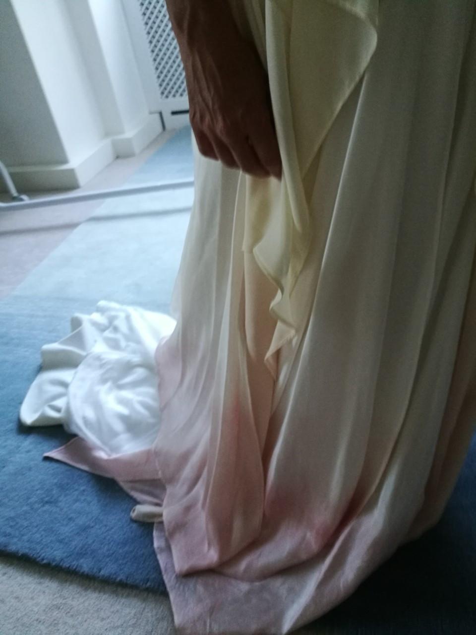 Dip dye wedding dress Jessica Turner Designs