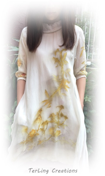 Eco printing.  by Terling Creations via pinterest.