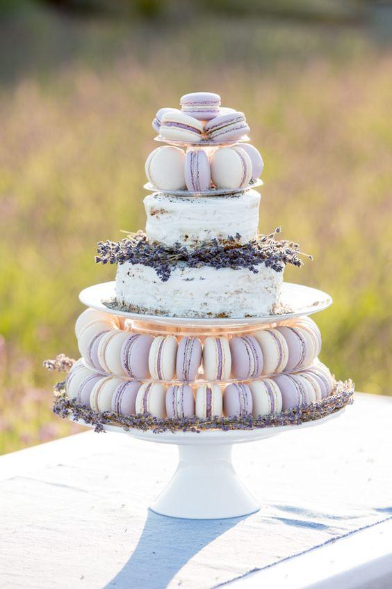 summer lavender wedding cake
