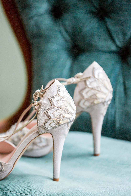 Emmy shoes, elegant and romantic bride bridal shoes