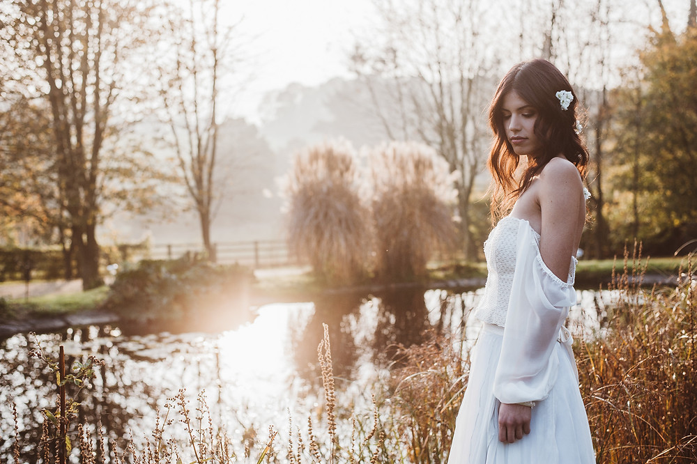 Jessica Turner Designs boho sleeves and untraditional wedding dress