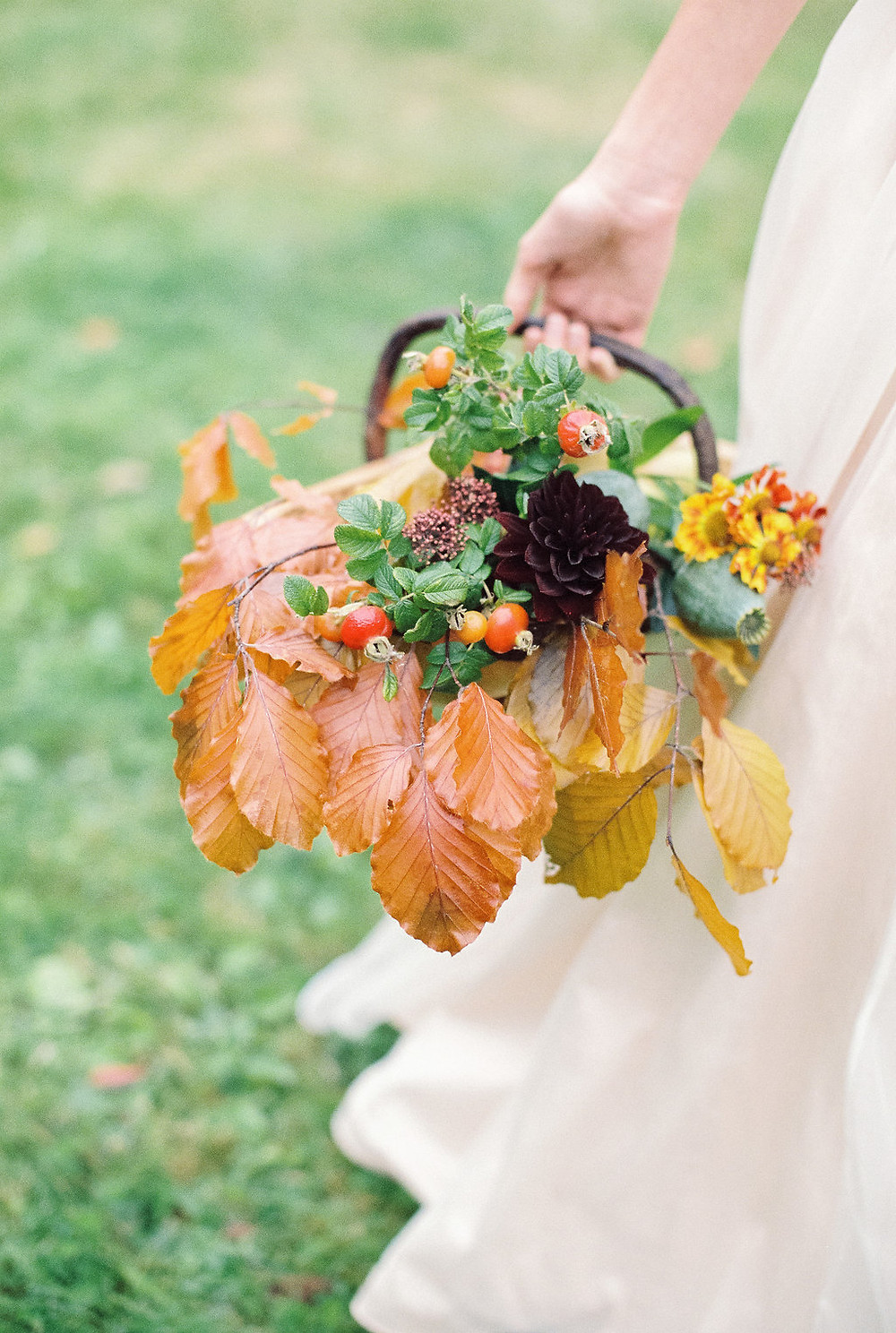 Autumnal Bridal Basket Jessica Turner Designs Blog