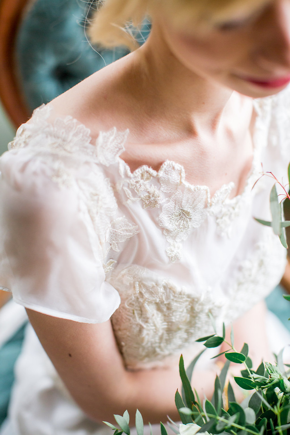 knitted bodice by Jessica Turner Designs luxury bridal dress