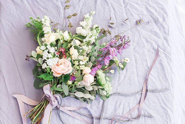 Lilac colour bridal bouquet.