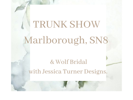 Summer TRUNK SHOW JESSICa Turner Designs aND &WOLF BRIDAL.