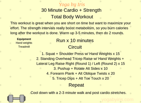 Energizing 30-Minute Cardio and Strength Workout