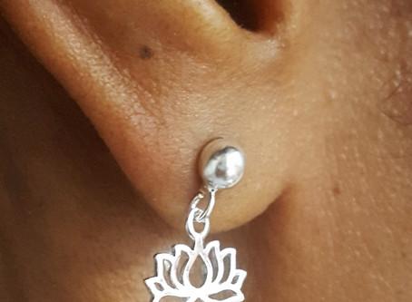 DIY Lotus Earrings