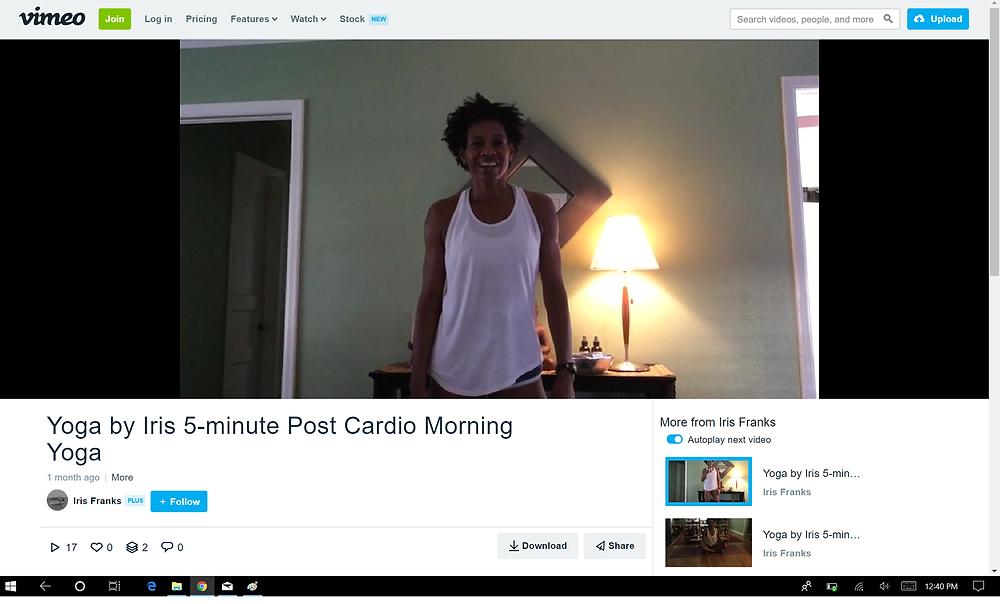 Iris Franks Yoga Dallas 5-minute Morning Yoga