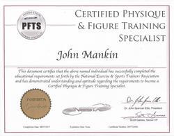 NESTA PFTS Certification