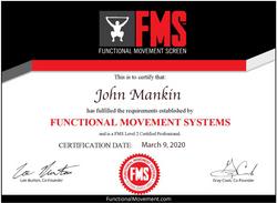 John Mankin FMS Certification L2