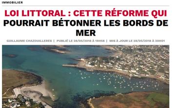 Justine ORIER, dans Capital sur le projet de réforme de la Loi littoral