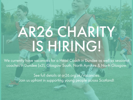 AR26 Charity is Hiring