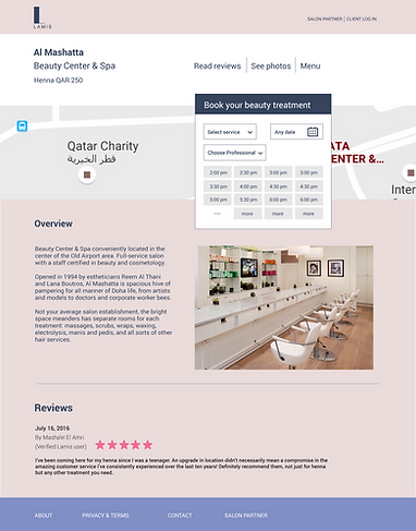 Salon Profile Page