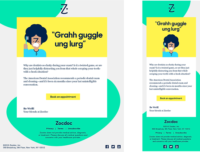 Zocdoc Marketing Email Faris Habayeb