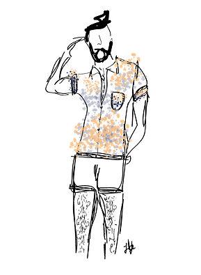 Topman Paint Splatter Shirt