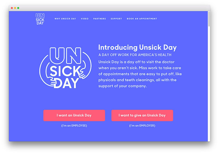 Unsick Day Website