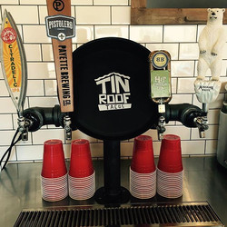 Draft beer is here! 🍻  #tinrooftacos